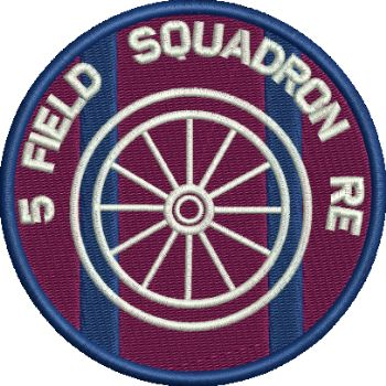 5 FD SQN embroidered badge